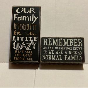 Family box signs